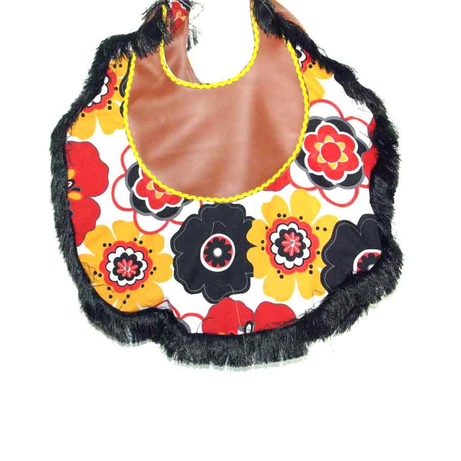 Upcycling Tasche Kunstleder, BohoBag, große Tasche, Umhängetasche, Unikat, Handarbeit, Hippietasche, Fransentasche