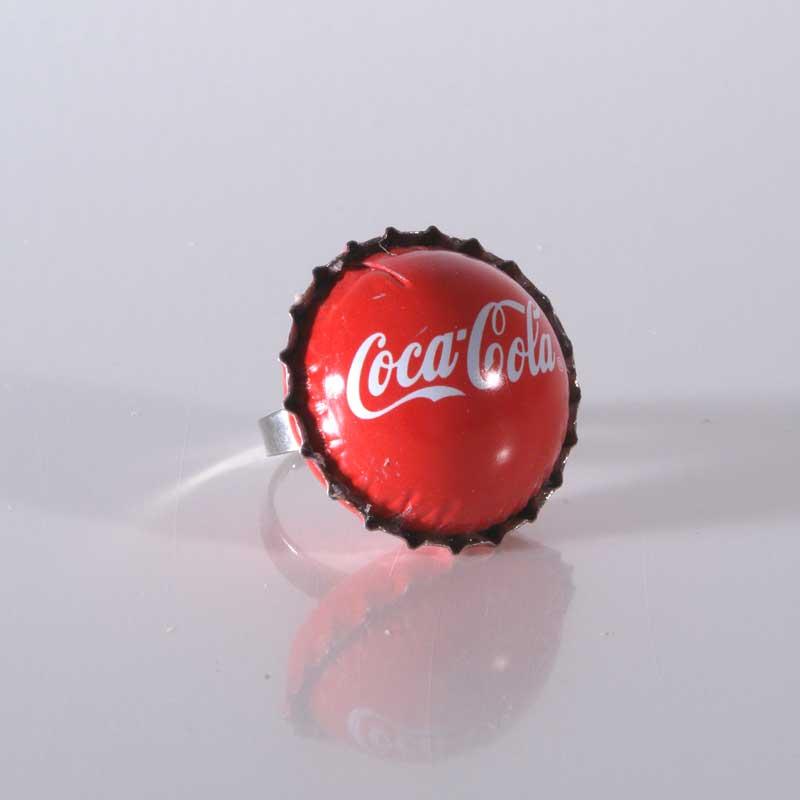 Kronkorken Upcycling, Kronkorkenring, Statement Ring, Unikat, Geschenk, Handgemacht, Kronkorkenschmuck, CocaCola